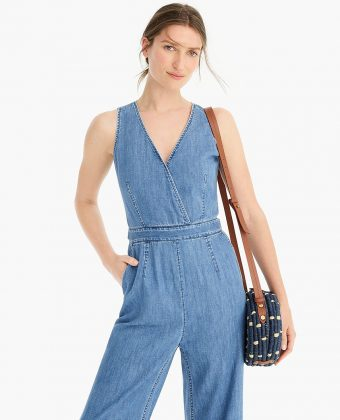 Tailored Indigo Jumpsuit